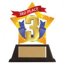 3rd Place Mini-Star Acrylic Award